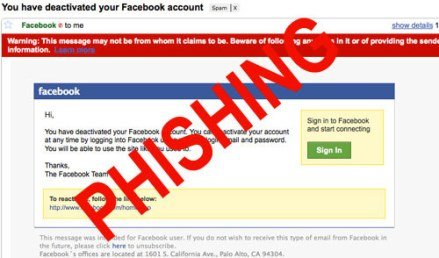 Email Facebook Phishing